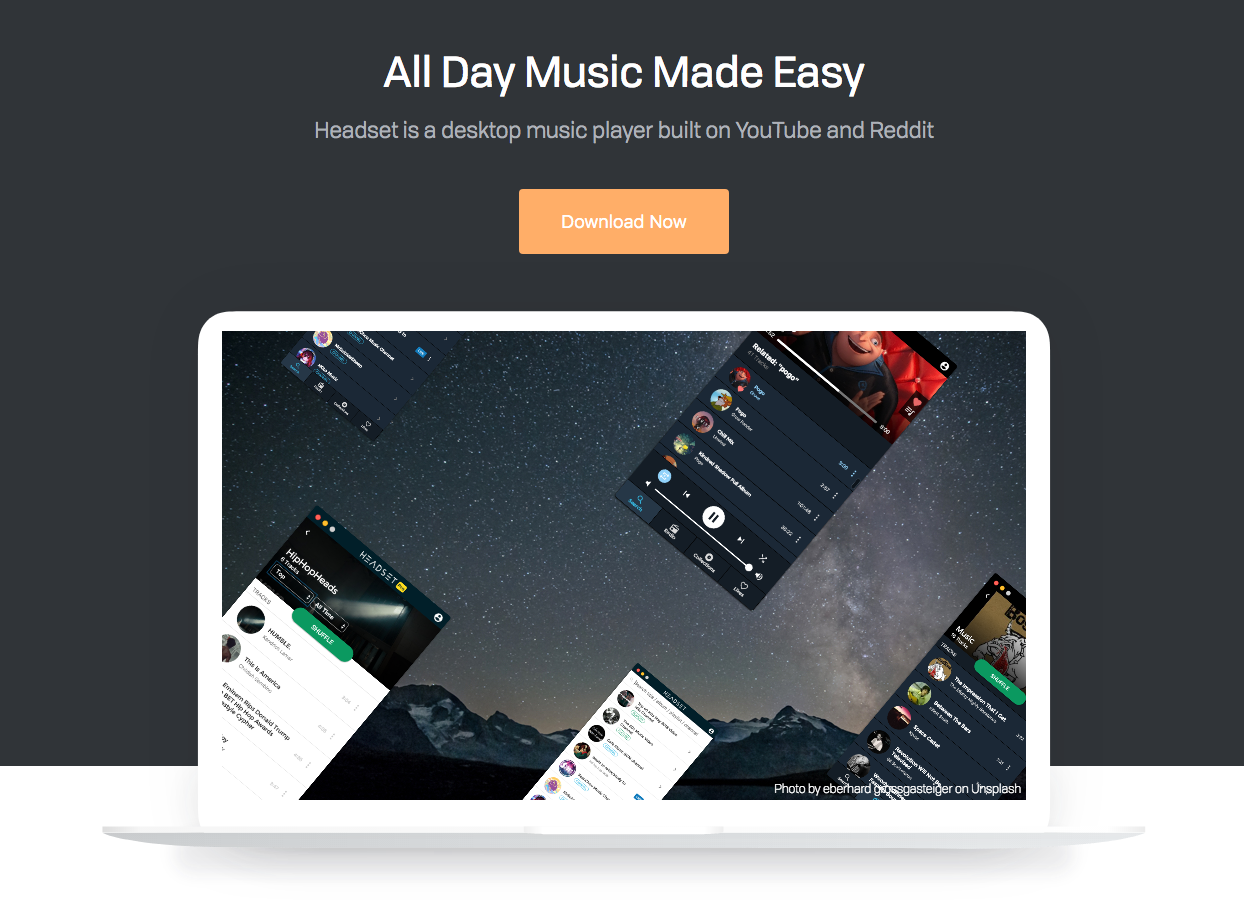 Headset - Desktop Music Player Powered by YouTube And Reddit